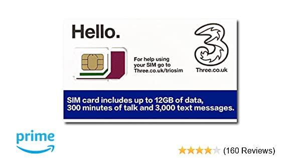 Carte Sim Bresil Data.Three Uk Prepaid Europe Sim With Up To 12gb Data For 42 Countries For 30 Days