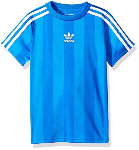 adidas Originals Boys Big Authentics Tee, Blue Bird/White, M