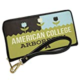 Wallet Clutch US Gardens American College Arboretum - PA with Removable Wristlet Strap Neonblond