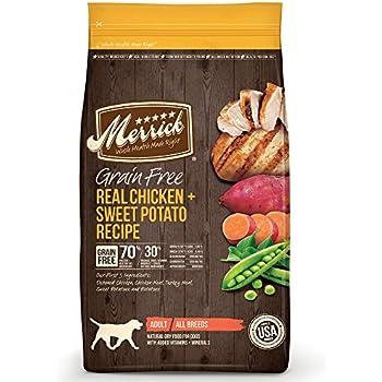 Merrick Grain Free Real Chicken & Sweet Potato Dry Dog Food, 25 lb.