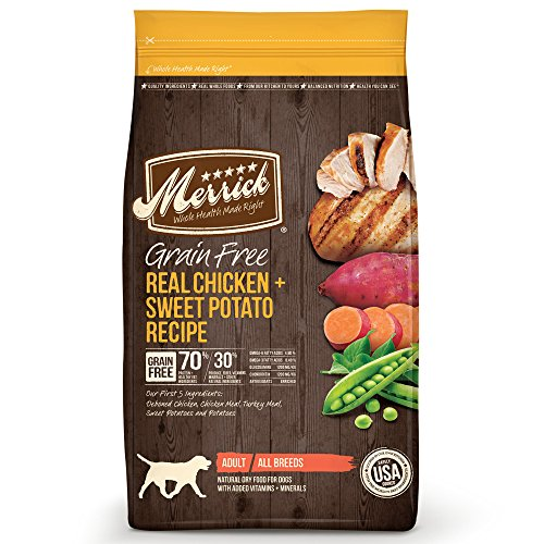 Merrick Grain Free Real Chicken & Sweet Potato Dry Dog Food, 25 Lb.