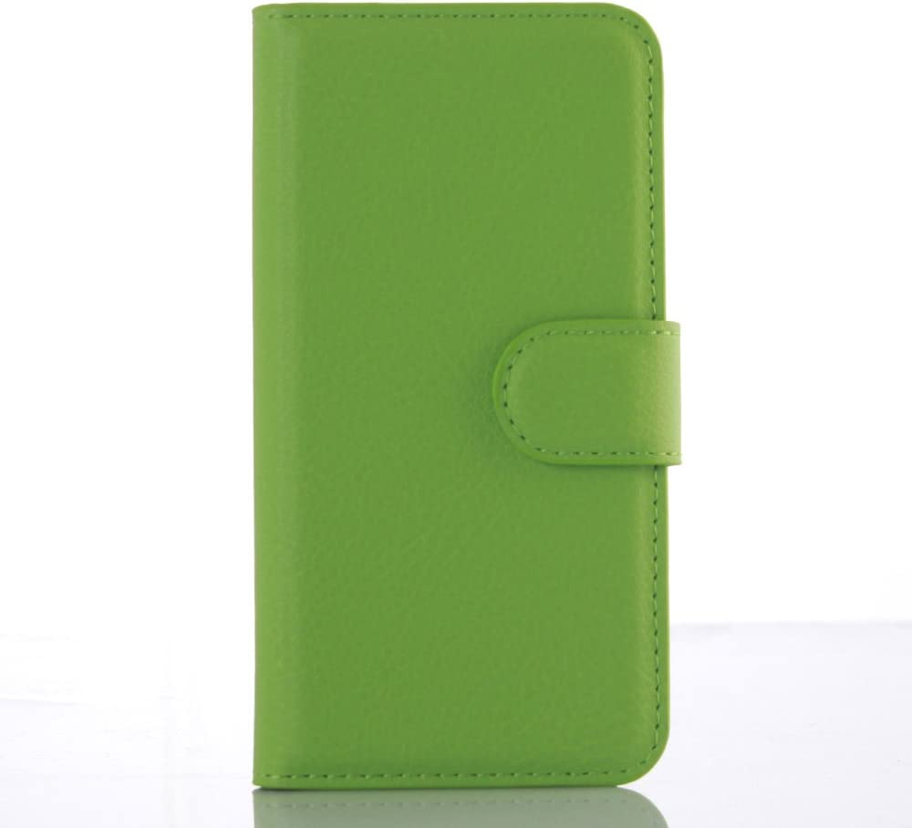 Leather Case for iPod Touch 7th 6th 5th Generation (2020-2012 Models of iPod) - Protective Cover Case with Pockets for The iPod Touch (Green Color)