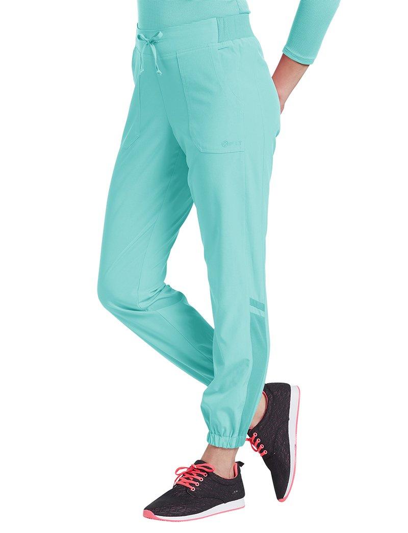 b9f9ce91dfa Fit by White Cross Women's Jogger Scrub Pant Medium Petite Moonlight Jade