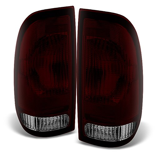 For Ford F-Series Trucks & Super Duty Rear Tail Lights Tail Lamps Dark red Replacement Left + Right - 2004 Ford Light F-series