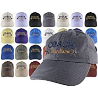 5139246cc037a Custom Personalized Coach Name Stars Embroidery on Your Selection of  Adjustable Unstructured Baseball Cap Dad Hat