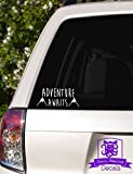 """Adventure Awaits Mountains Vinyl Car Decal - 4"""" White offers"""