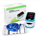Oximetro de Pulso - Oxímetro de Dedo, Pulsioxímetro de Dedo Oxímetro Pulsómetro Digital,Lector de Pulso Digital de Lectura Instantánea,Monitor de Frecuencia de Pulso, Aprobado por FDA&CE (Azul)
