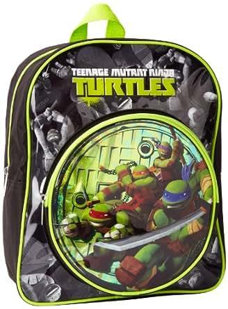 Nickelodeon Little Boys' Ninja Turtles Iconic Backpack, Black, One Size