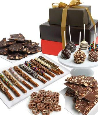 Gifts - Deluxe Chocolate Covered Gift Basket Tower]()