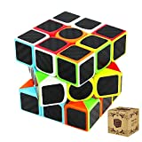 Toys : Speed Cube, 3x3x3 Carbon Fiber Stickers Speed Cube Puzzles Easy Turning and Smooth Play Magic Cubes Holiday's Gift, Brain Training Game Toys for Children and Adult Hotweild