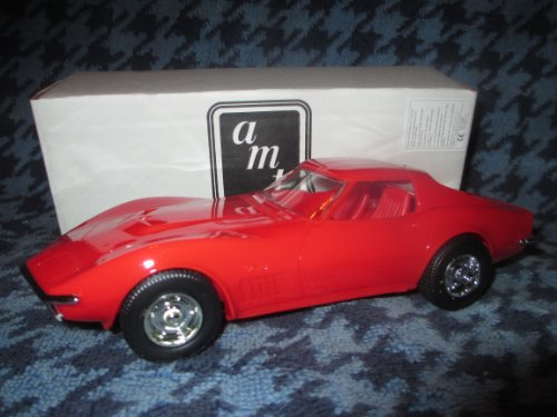 Monza Corvette (#6108 Ertl 1970 Chevrolet Corvette Monza Red Promo Plastic Model,,Fully Assembled)