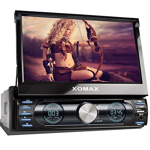 XOMAX XM-VRSUN729 Autoradio / Moniceiver / Naviceiver mit GPS Navigation + Navi Software inkl. Europa Karten (48 Länder) + Bluetooth Freisprechfunktion + 7