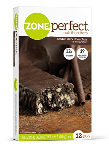 ZonePerfect Nutrition Snack Bars, Double Dark Chocolate, 1.58 oz, (12 Count)