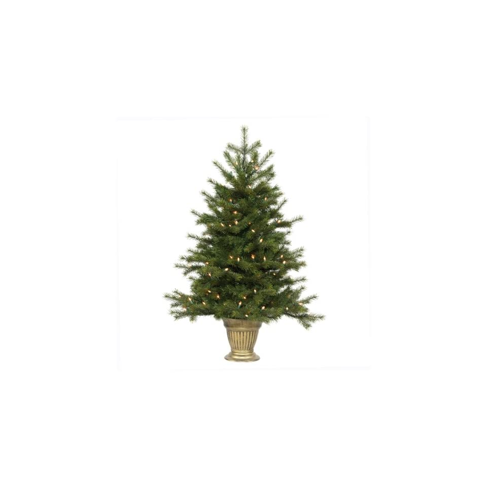 3.5 Pre Lit Potted Redwood Christmas Tree   Clear Lights