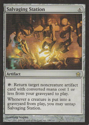 (Salvaging Station (Magic the Gathering : Fifth Dawn #148 Rare))