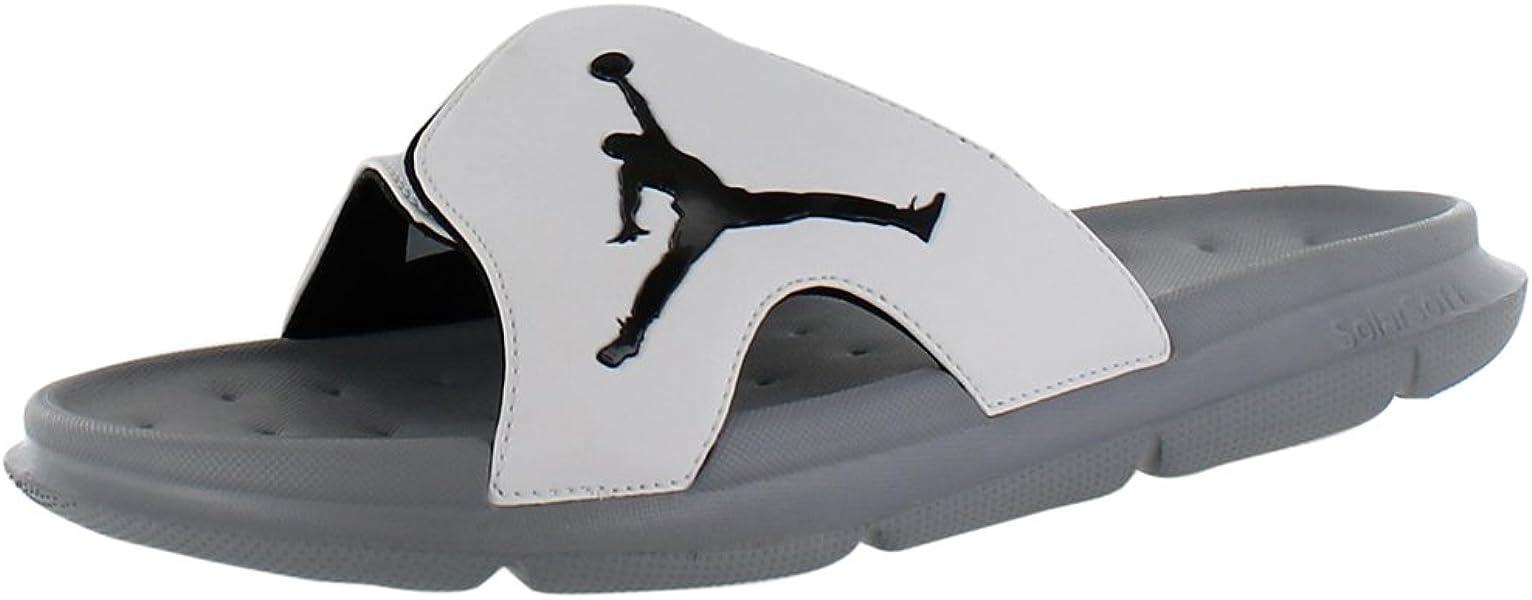 1a2fb1fa13cd7f Nike Men s JORDAN RCVR SLIDE SELECT SANDALS 8 Men US (WHITE BLACK STEALTH