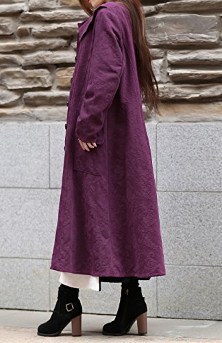 Anysize Classic Jacquard Weave Linen&Cotton Dress Spring Fall Winter Plus Size Clothing F26A by Anysize (Image #4)'