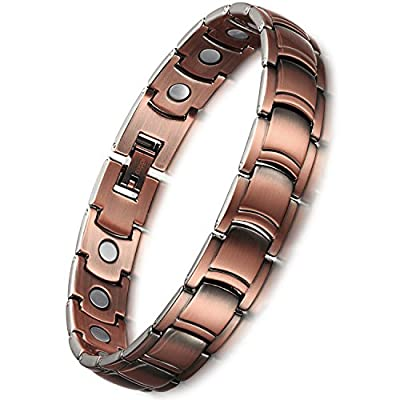 PURE COPPER Magnets Therapy Bracelet Pain Relief for Arthritis and Carpal Tunnel Health Care Elements For Men