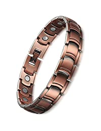 Pure Copper Magnetic Therapy Bracelet for Men Health Care Elements for Pain Relief for Arthritis and Carpal Tunnel