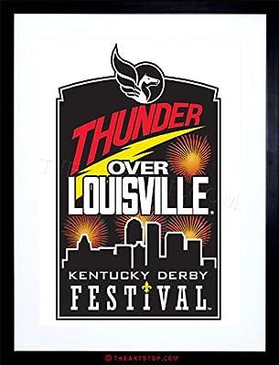 Ad Festival Thunder Louisville Kentucky Derby Framed Print F97x2288