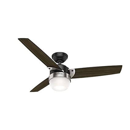 48 ceiling fan with light modern hunter fan company 59228 48quot flare matte black ceiling with light and remote 48