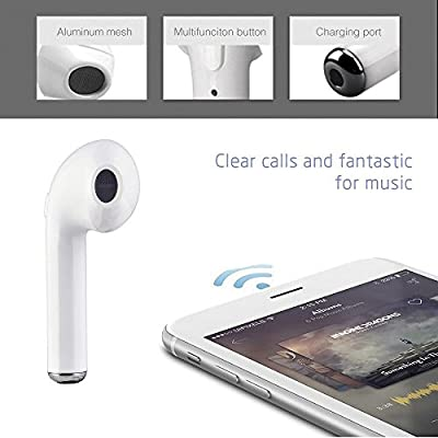 Bluetooth Earbuds, Wireless Headsets In-Ear Headphones Stereo Earpiece Earphones With Noise Canceling Mic for iPhone X 8 8 plus 7 6S 6 IOS Android Phones