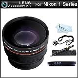Vivitar Wide Angle Lens Kit For Nikon 1 J1, Nikon 1 V1, Nikon 1 J2 Mirrorless Digital Camera(That Use 10-30mm, 30-110mm, 10mm Lenses) Includes High Definition .43x Wide Angle Lens W/ Macro + LensPen Cleaning Kit + Lens Cap Keeper + Microfiber Cloth