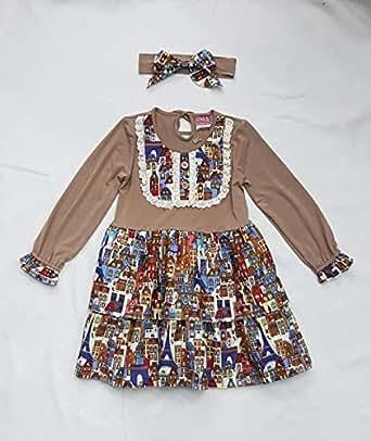 Flower Girl Girls Dress 2 Pieces set,Brown