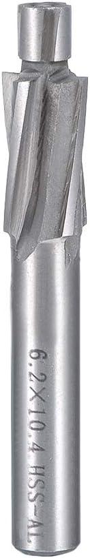 uxcell HSSAL Cobalt Counterbore End Mill Cap Screws Expand Holes 4 Flutes 6.2 x 10.4mm