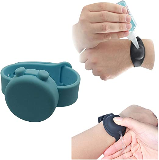 Adjustable Wristband Portable Silicone Bracelet Wristband With 1 Re-fillable Beak Bottle,Wearable Dispenser For School,Travel,Work,Outdoor XIAOTIAN Adults Kids Hand Sanitizer Dispenser