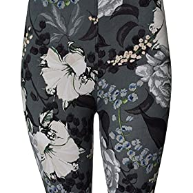 - 51z1q4G87nL - VIV Collection Printed Brushed Leggings Regular and Plus
