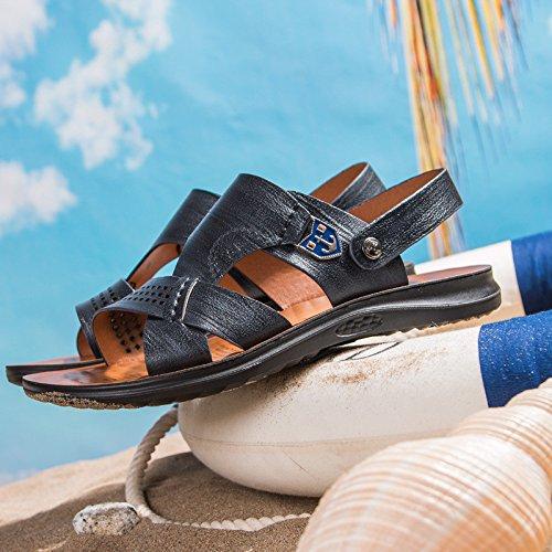 estate moda Il nuovo fibra sandali Uomini Spiaggia scarpa traspirante Tempo libero Uomini sandali ,nero,US=6.5,UK=6,EU=39 1/3,CN=39