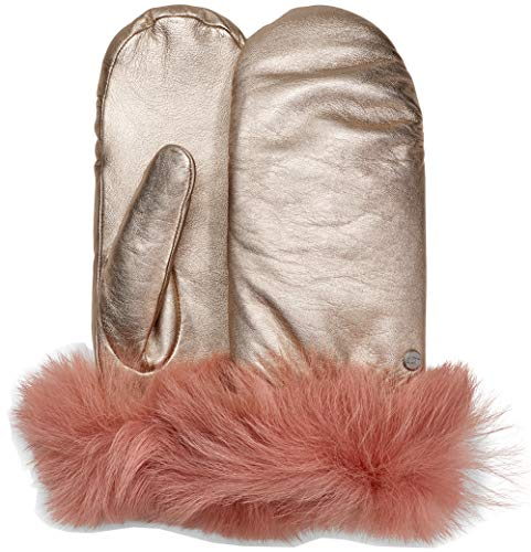 UGG Womens Leather Mitten, Rose Gold, Size Small/Medium, used for sale  Delivered anywhere in USA
