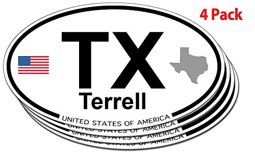 Terrell, Texas Oval Sticker - 4 - Terrell Texas