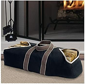Amagabeli Large Canvas Carrier Indoor Fireplace Firewood Totes