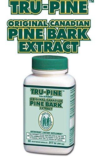 Essiac Tru-Pine Original Canadian Pine Bark Extract Formula - 60 Vegetable capsules (Essiac Original Formula)