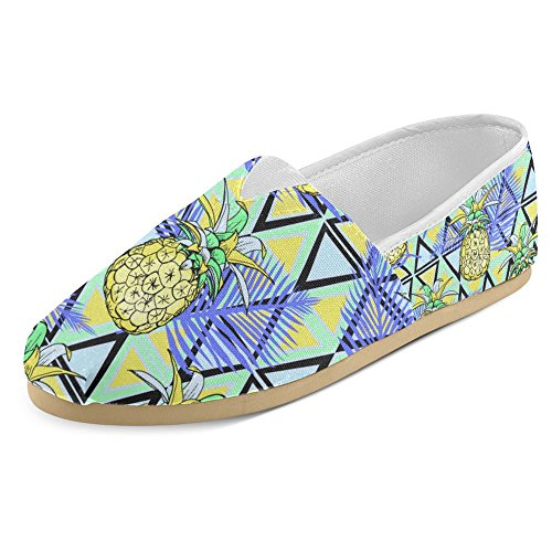 Mocassini Donna Interestprint Classico Casual In Tela Slip On Fashion Shoes Sneakers Flats Ananas Fruit Multi 30