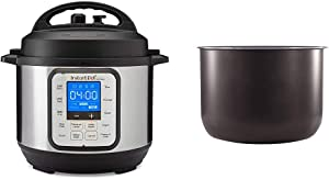 Instant Pot Duo Nova 7-in-1 Electric Pressure Cooker, Sterilizer, Slow Cooker, Rice Cooker, Steamer, Saute, Yogurt Maker and Warmer, 3 Quart, 12 One-Touch Programs & 3 Quart Ceramic Pot