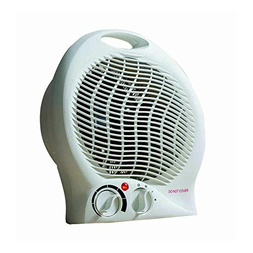 2000W Electric Fan Heater Home Office Compact Hot Cold Weather Kids Bedroom Present Bathroom Indoor Practical Plastic…