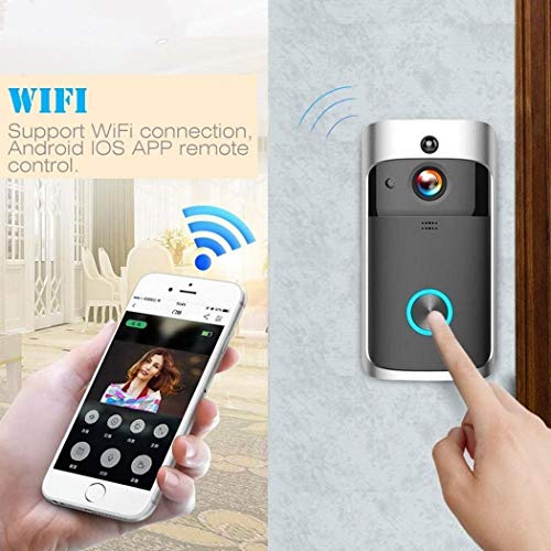 Weardear WiFi Video Doorbell Camera,Wireless 720P HD Smart Doorbell Home Security Camera with Indoor Chime, Real-Time Video and Two-Way Talk Night Vision PIR Motion Detection