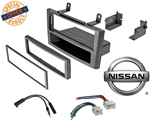 2000 2003 Nissan Maxima Auto (Car Stereo Grey Dash Kit Wire Harness Antenna for 2000-2003 Nissan maxima W/ Wiring Harness Antenna)