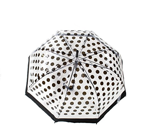 Zac's Alter Ego Men's Large Polka Dot Transparent Umbrella With Trim Length 83Cm ()