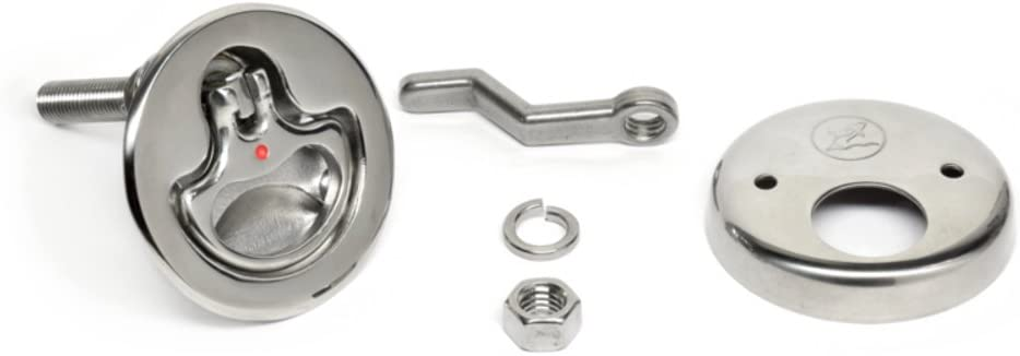 Southco M5-81-000-8 Round D-Handle Compression Latch, Non-Locking, for Boat Deck Hatches