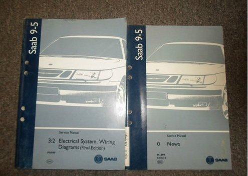 1999 Saab 9 5 3 2 Electrical System Wiring Diagram News Service Manual Set 2 V Saab Amazon Com Books
