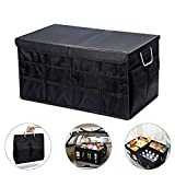 Trunk Organizer for Car, Fityou 66L SUV Van Storage Organizers for Auto Accessories, Collapsible Waterproof 1680D Oxford Fabric Durable Multi Compartments Box with Foldable Cover and Sturdy Base