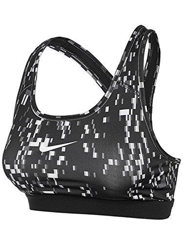 Nike Womens Pro Classic Techno Padded Sports Bra Black/White 805268-100 Size X-Small