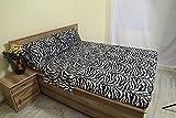 zebra bedspread full - Linenaffairs Egyptian Cotton 300 Thread Count Sheet Set 4 PCs 15 Inch deep pocket Full Zebra Animal Print