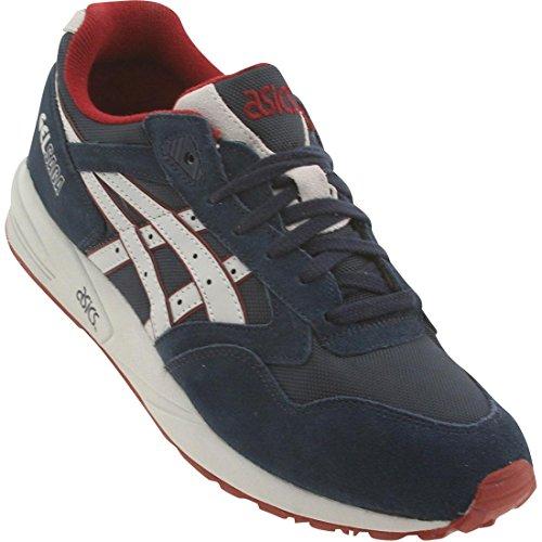 ASICS Men's Gel Saga Fashion Sneaker,Navy/Soft Grey,13 M US