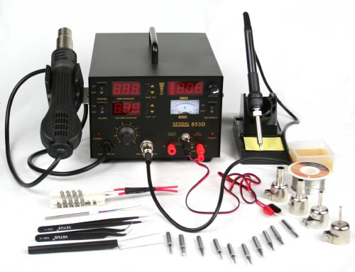 Kendal 853D 4 IN 1 SMD HOT AIR REWORK & SOLDERING IRON STATION / DC POWER SUPPLY & DC TEST METER by Kendal (Image #8)