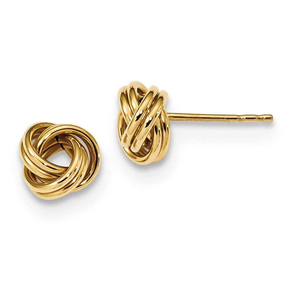 14K Polished Love knot Post Earrings